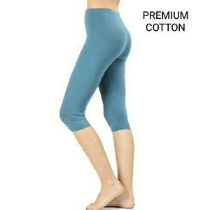 Pants - NEW - PREMIUM COTTON TITANIUM STRETCH CAPRIS